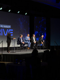 Panel discussion on stage at User Conference