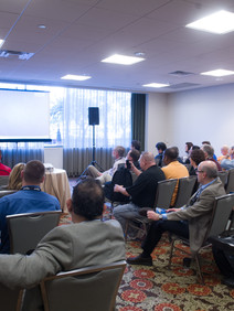 Speaker presenting during a breakout session