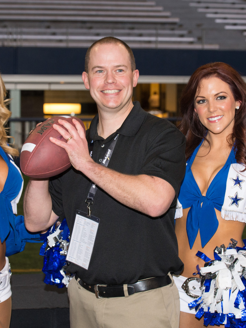 Customer appreciation event with Dallas Cowboys cheerleaders