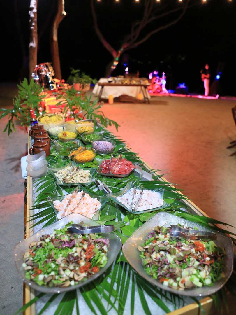 Costa Rican food spread