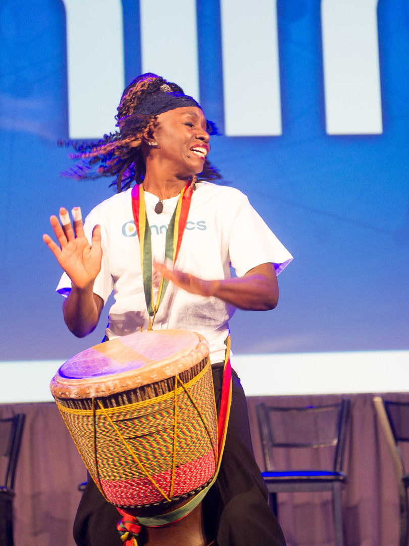 Rythmic drummer entertainer sourced for corporate entertainment