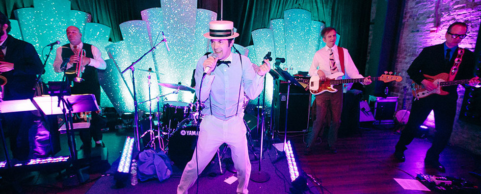1920s Band performing at Roaring at Rising Corporate Event