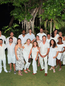 White party group photo