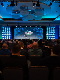 Sales kickoff general session stage