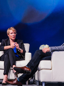 Fireside chat with executives on stage at users conference