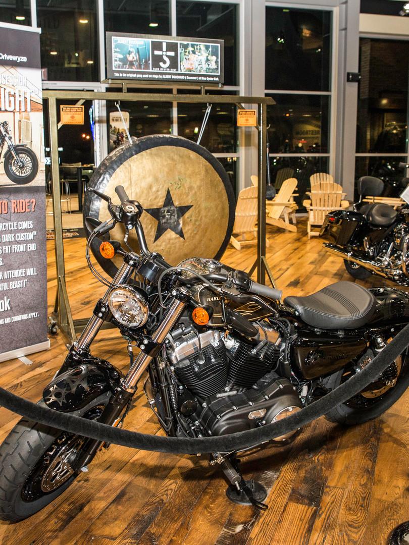 Harley Davidson motorcycle for raffle prize