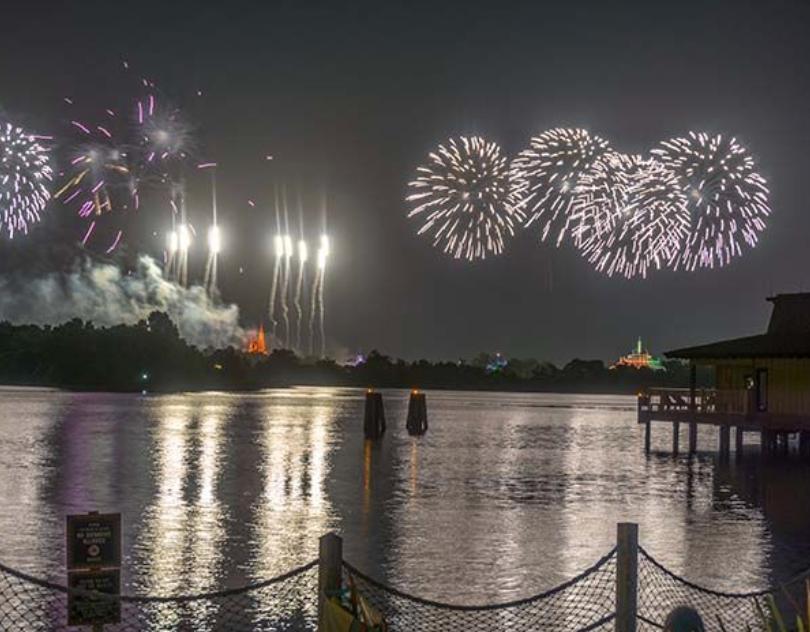 Mo'orea fireworks display for company trip