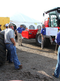 Corporate event outdoor tractor training