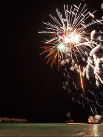 Fireworks launched at conclusion of President's Club event