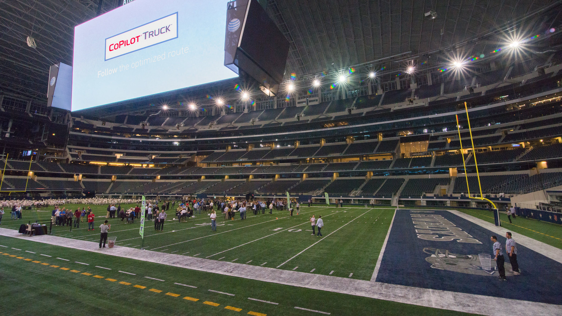 Dining on the Dallas Cowboys football field