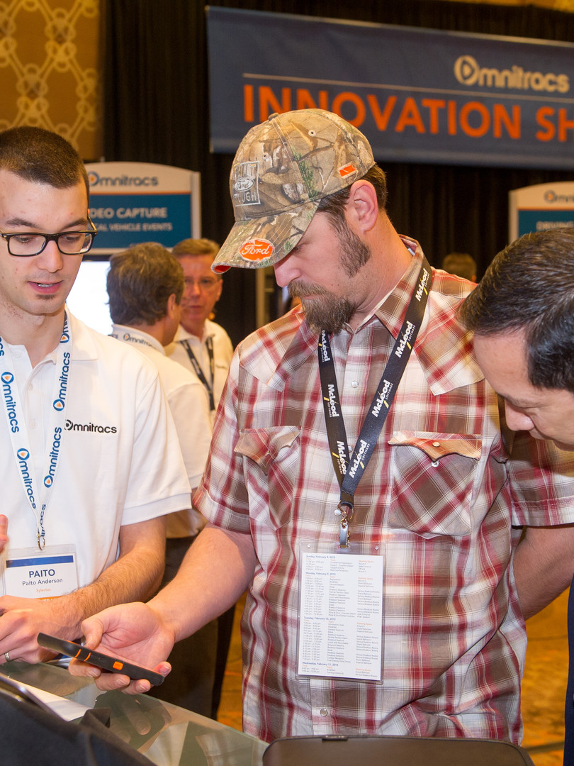 Customers learning at Innovation showcase