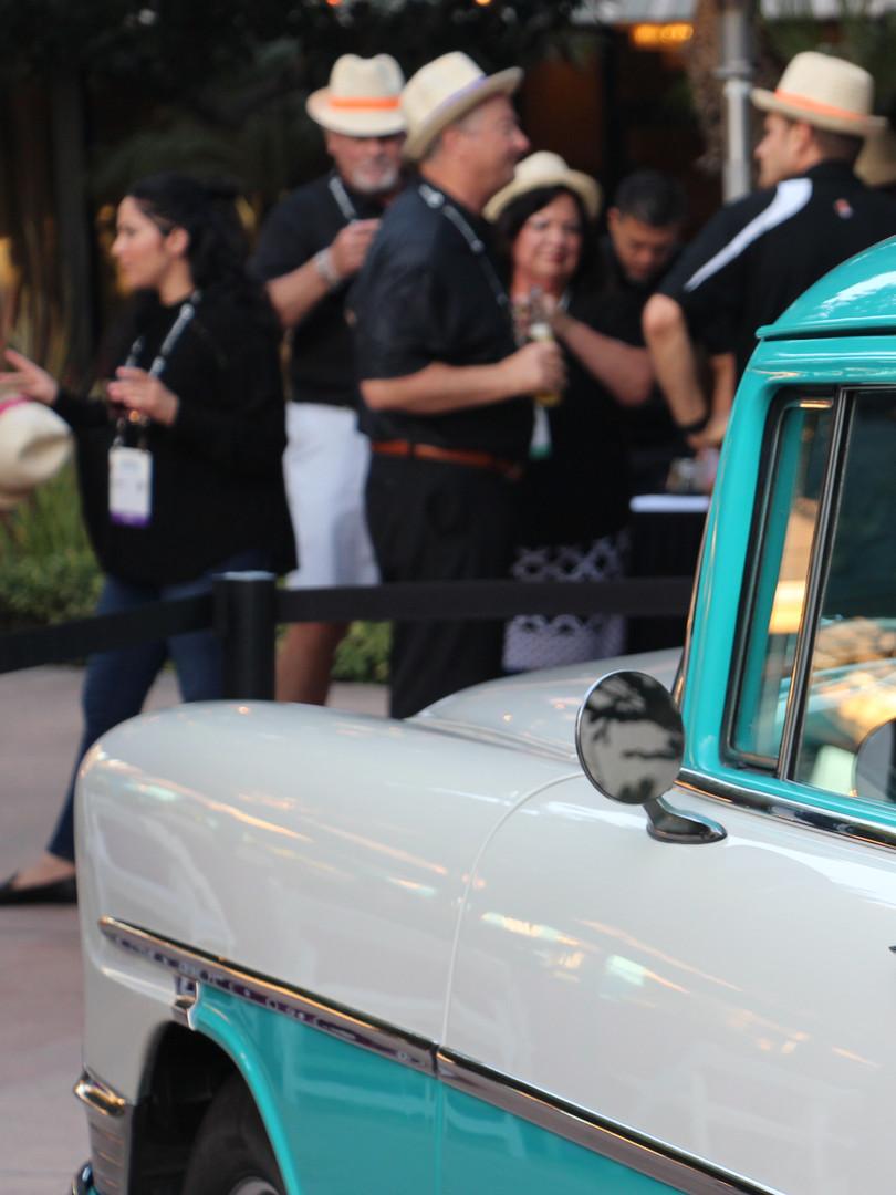 Vintage car for Havana Nights evening event