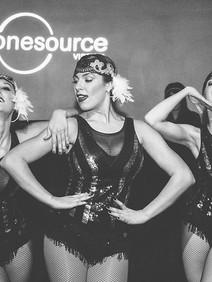 Flapper girls dancing entertainment at Roaring twenties event