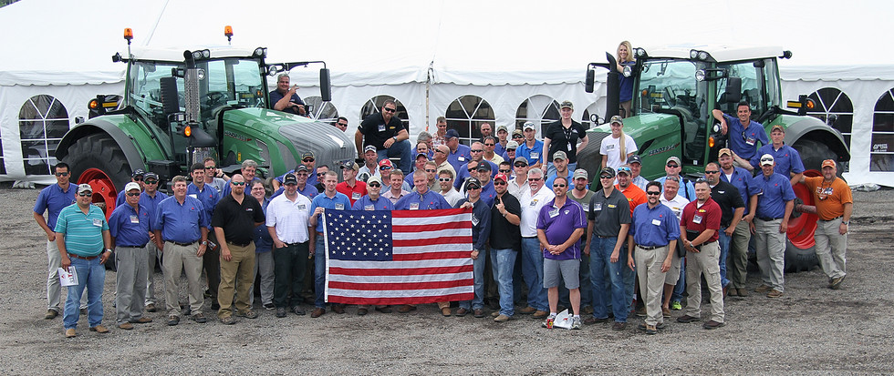 Agco Training group photo with American Flag