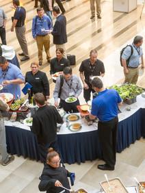 Overhead view of buffet