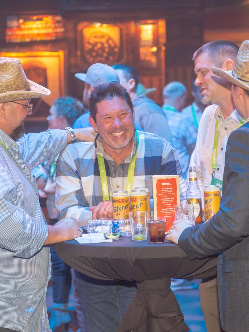 Customers enjoying networking