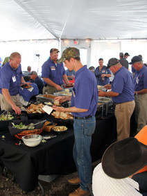 Lunch catered for outdoor training event
