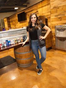 Bartender at Harley event