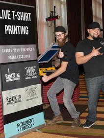Live T-shirt printing station