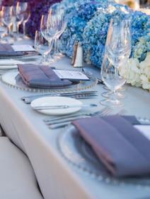 Breathe taking table setting for awards dinner
