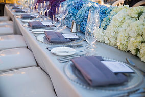 Forbes 5-star awards dinner table setting