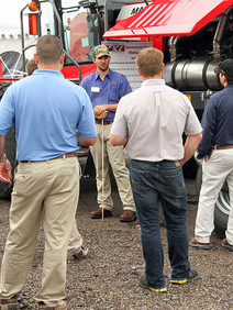 Face to face training on tractor equipment