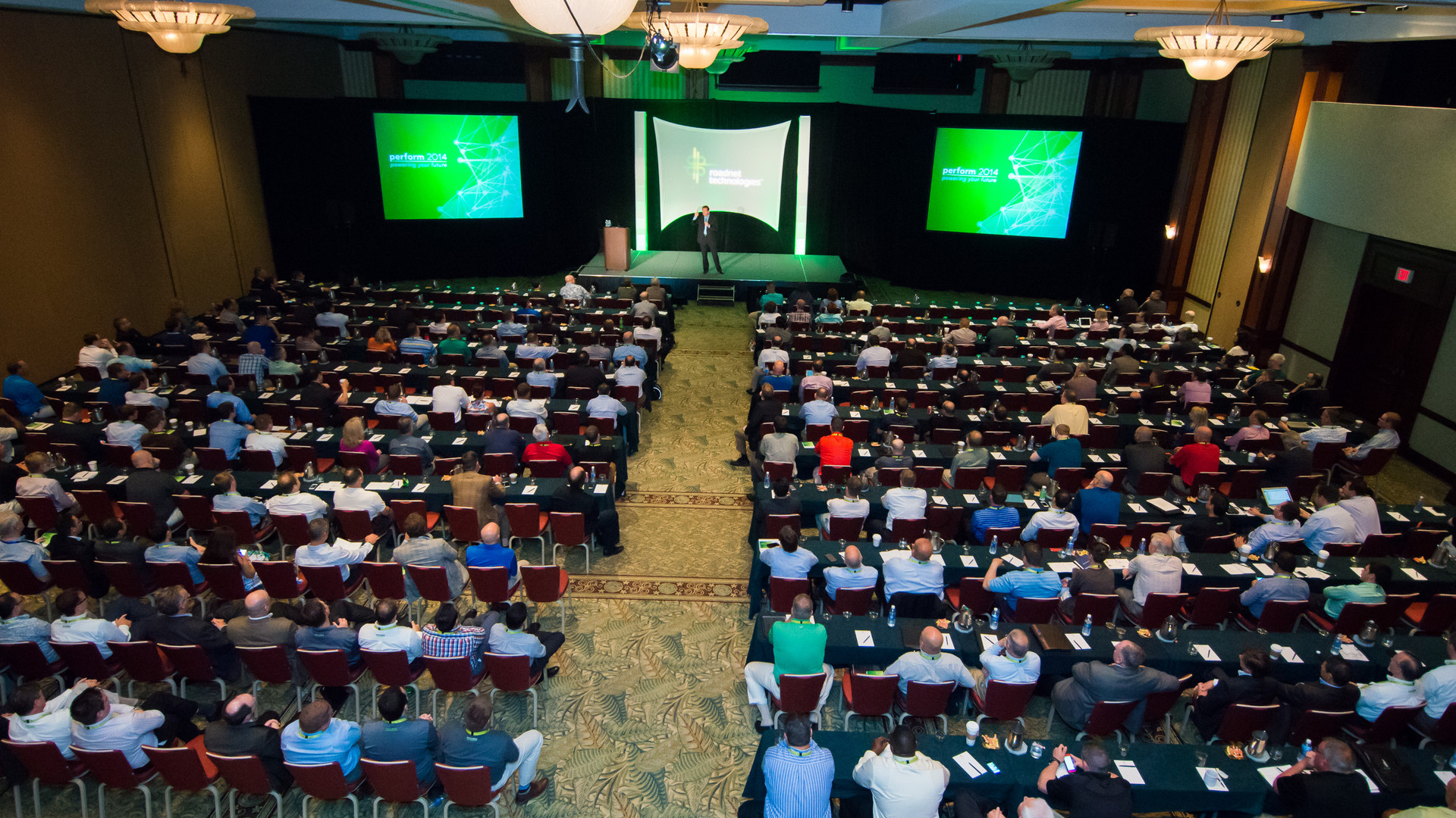 General session production and set up at