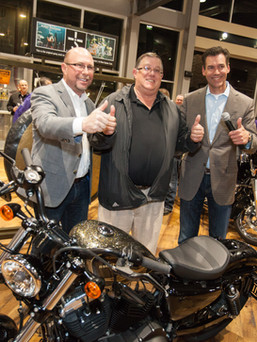 Harley Davidson giveaway at corporate event