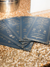 Custom menus for Roaring at Rising Corporate Event