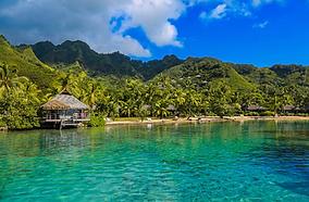 Tahiti landscape at client incentive trip
