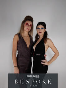 Italian models in photo booth
