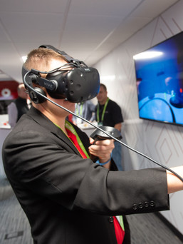 VR headset experience