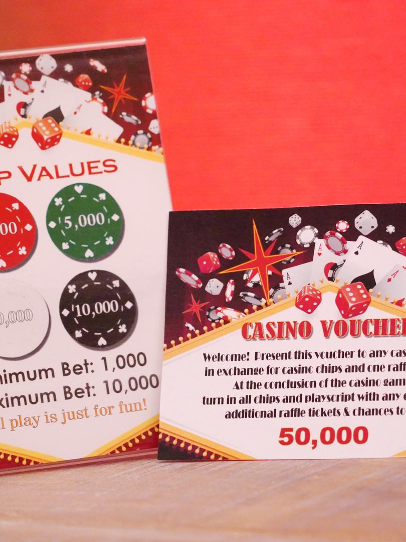 Casino night signage for Aptean user con