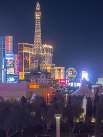 Vegas skyline view from rooftop