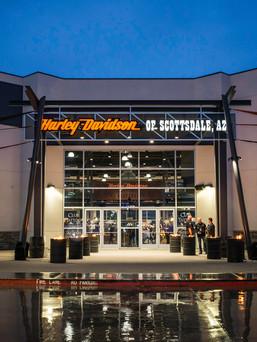 Front entrance of Harley Davidson in Scottsdale, AZ