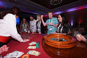 Attendees playing roulette at Aptean User Conference