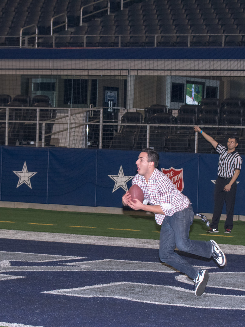 Man making a touchdown