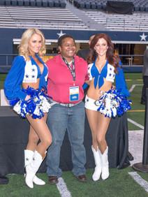 Photo op with Dallas Cowboys cheerleaders