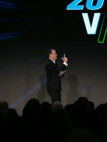 CEO keynote presentation at sales kickoff