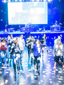Dance floor created for attendees at Lanyon Live evening event
