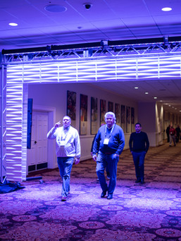 Lighted LED entrance to conference