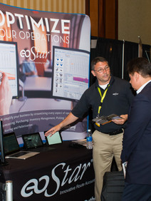 Exhibitors & attendees at user conference