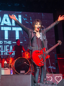 Joan Jett on stage for user conference