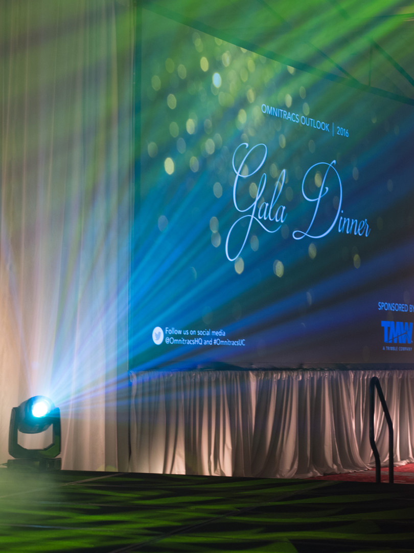 Gala Dinner singage and stage production
