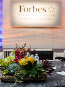 Table setting at Forbes conference