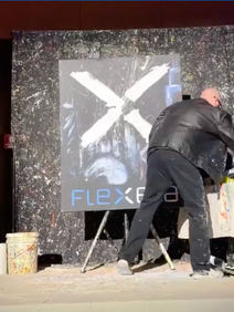 Speed Painter entertaiment at sales kickoff