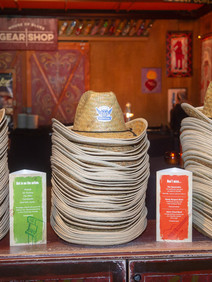 Cowboy hats as party giveaways