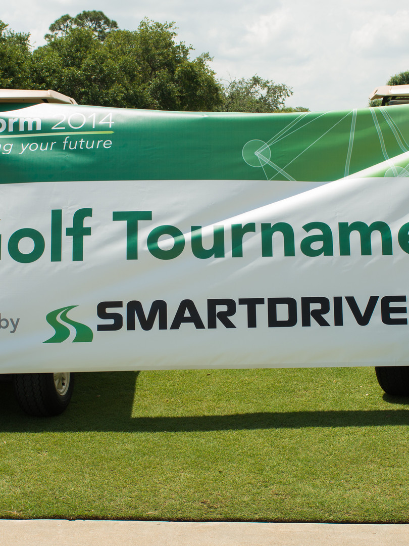 Signage and branding for user conference golf tournament
