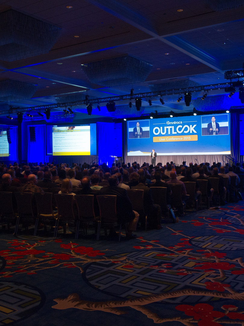 Outlook User Conference General Session Stage and Audience