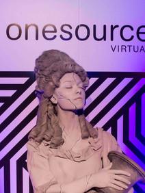Live statue at customer appreciation event